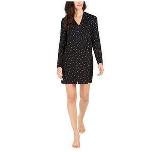 Alfani Printed Button-Front Sleepshirt Nightgown